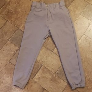Grey baseball pants